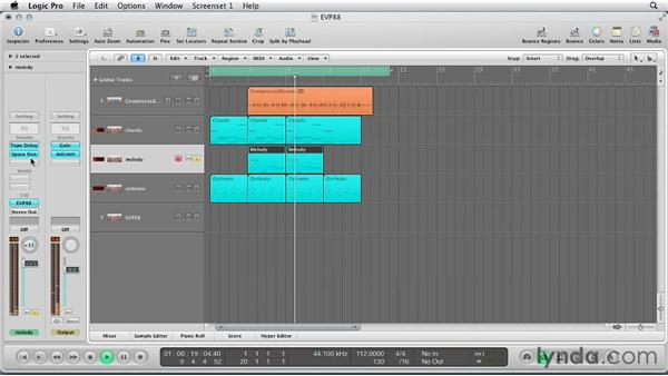 Musical example: Virtual Instruments in Logic Pro