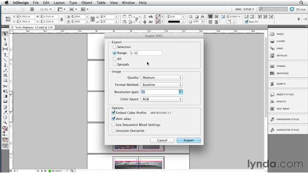 Exporting page backgrounds: Creating a Fixed-Layout EPUB