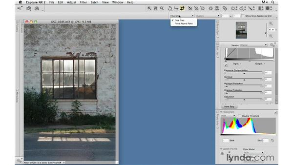 Cropping: Capture NX 2 Essential Training