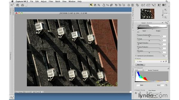 Non-destructive editing and the Edit List: Capture NX 2 Essential Training