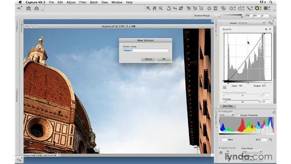 Creating multiple versions: Capture NX 2 Essential Training