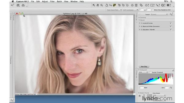 Reducing an image: Capture NX 2 Essential Training
