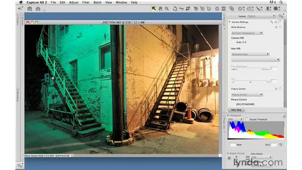 Using Capture NX with non-Nikon raw files: Capture NX 2 Essential Training