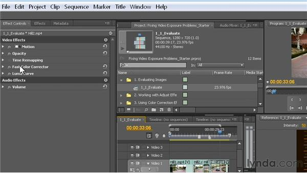 Toggling an effect: Fixing Video Exposure Problems in Premiere Pro