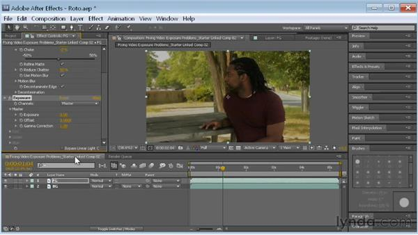 Darkening the background: Fixing Video Exposure Problems in Premiere Pro