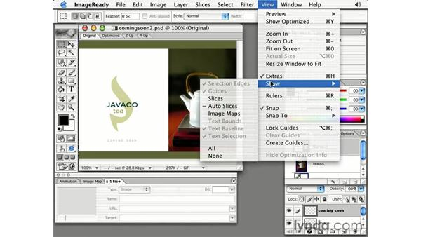 jump to ImageReady: Photoshop 7 Slices, Rollovers & Animation
