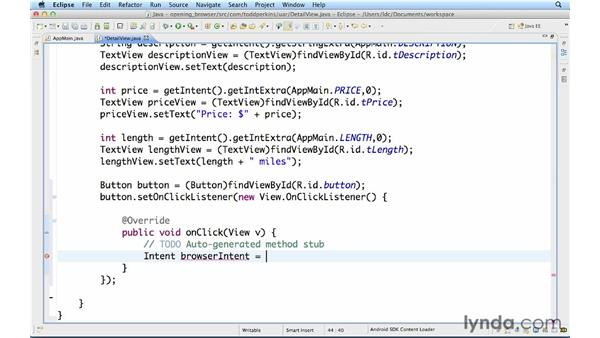 Opening a browser when a button is clicked: Up and Running with Java Applications (2012)