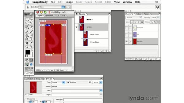 making manual rollovers: Photoshop 7 Slices, Rollovers & Animation