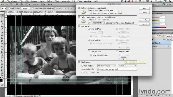Batch processing with the Image Processor script: Documentary Photo Techniques with Photoshop and After Effects