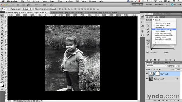 Restoring contrast with curves: Documentary Photo Techniques with Photoshop and After Effects
