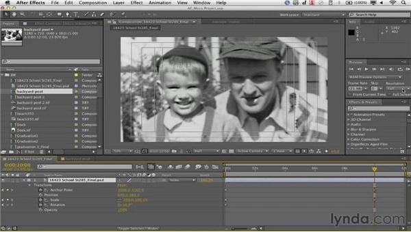 Previewing the animation: Documentary Photo Techniques with Photoshop and After Effects