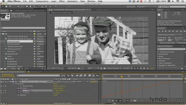 Using eases and keyframe assistants: Documentary Photo Techniques with Photoshop and After Effects