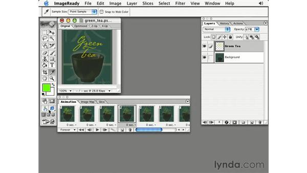 tweening: Photoshop 7 Slices, Rollovers & Animation