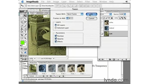slideshow: Photoshop 7 Slices, Rollovers & Animation