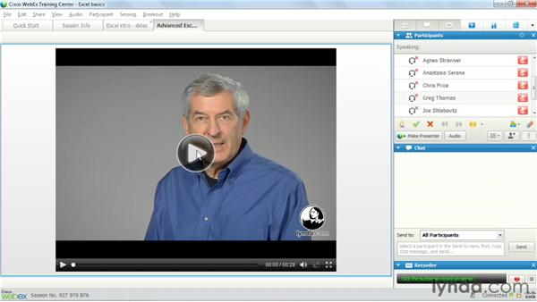 Presenting audio and video files: Up and Running with WebEx Training Center