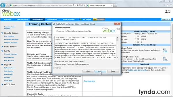 Downloading the WebEx Poll Questionnaire Editor