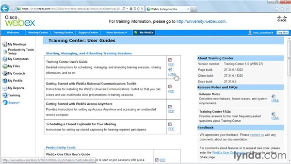 Next steps: Up and Running with WebEx Training Center