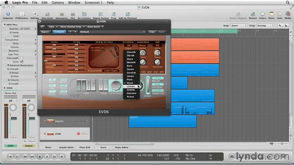 Choosing the instrument model: Virtual Instruments in Logic Pro