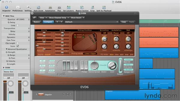 Customizing the string parameters: Virtual Instruments in Logic Pro