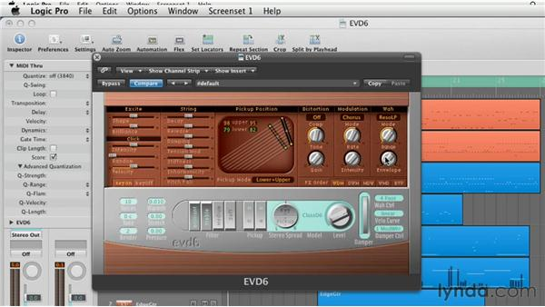 Using the EVD6 Effects: Virtual Instruments in Logic Pro