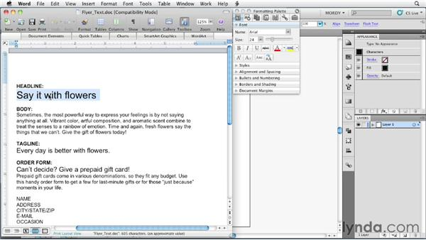 Bringing text from Microsoft Word into Illustrator: Illustrator Insider Training: Type and Text