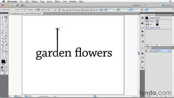Converting text into editable vector paths: Illustrator Insider Training: Type and Text