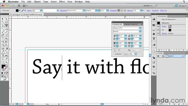 Kerning, tracking, and optical kerning: Illustrator Insider Training: Type and Text
