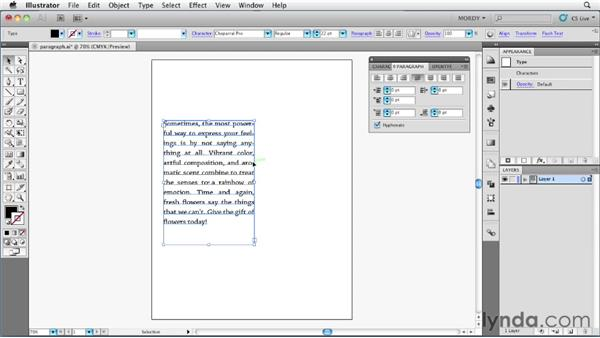 Basic paragraph settings and keyboard shortcuts: Illustrator Insider Training: Type and Text