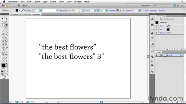 Using smart punctuation: Illustrator Insider Training: Type and Text