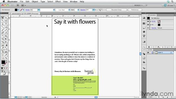Finding substituted fonts and glyphs: Illustrator Insider Training: Type and Text