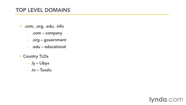 Getting a domain name: Managing a Hosted Web Site