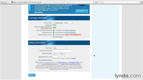 Purchasing a domain with cPanel: Managing a Hosted Web Site