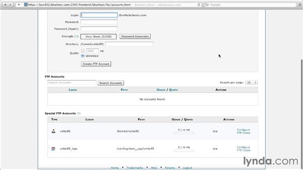 Setting up FTP accounts with cPanel: Managing a Hosted Web Site