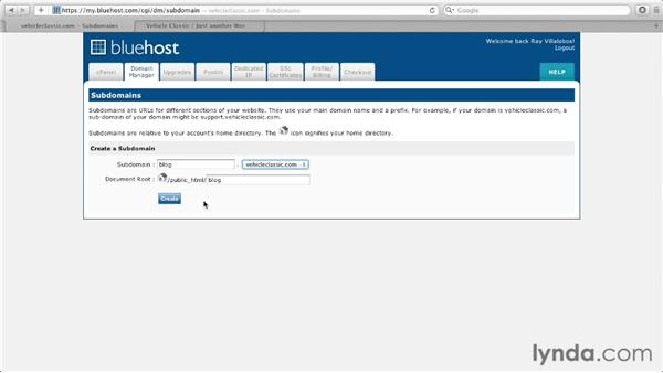 Creating a subdomain with cPanel: Managing a Hosted Web Site